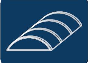 Pásový obloukový světlík